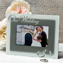 Our Wedding Glass Photo Frame